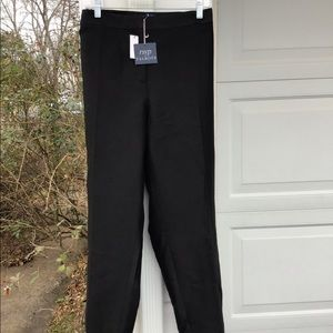 NWT Talbots Beautiful Black Lined Silk Blend Pants